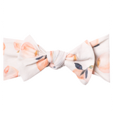Copper Pearl Knit Headband Bow - Caroline - The Milk Moustache