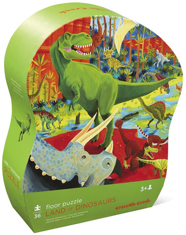 36-Piece Land of Dinosaurs Puzzle - The Milk Moustache