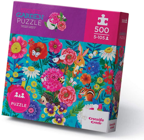 500-Piece Puzzle - Secret Garden - The Milk Moustache