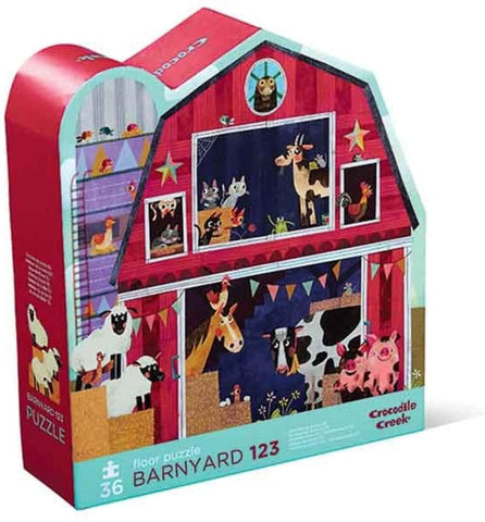 36-Piece Barnyard 123 Puzzle - The Milk Moustache