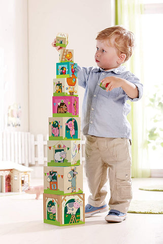 Haba On the Farm Stacking Nesting Cubes