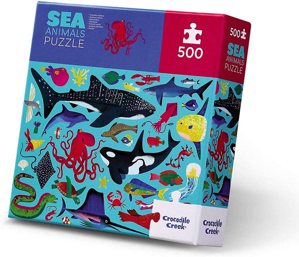 500-Piece Puzzle - Sea Life - The Milk Moustache