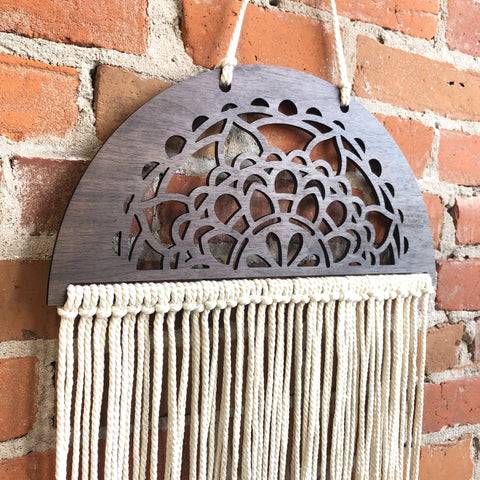 Handmade Mandala Macrame Wooden Wall Decor - The Milk Moustache