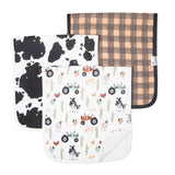 Copper Pearl Burp Cloth Set - Jo - The Milk Moustache