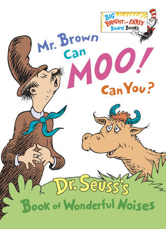 Mr. Brown Can Moo! Can You? Board Book - The Milk Moustache