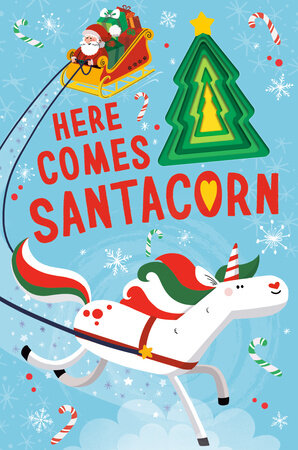 Here Comes Santacorn Board Book