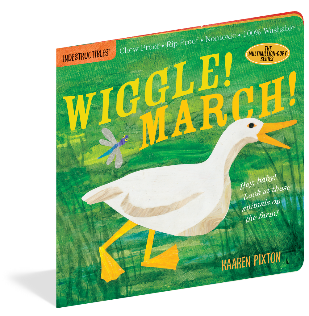Indestructibles Baby Books : Wiggle! March! - The Milk Moustache