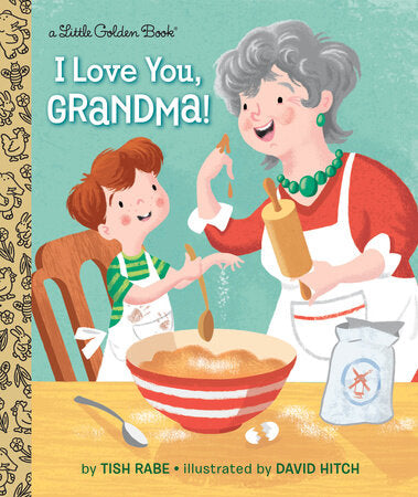 Little Golden Book I Love You, Grandma! Picture Book - The Milk Moustache