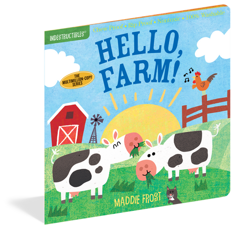 Indestructibles Baby Books : Hello Farm! - The Milk Moustache