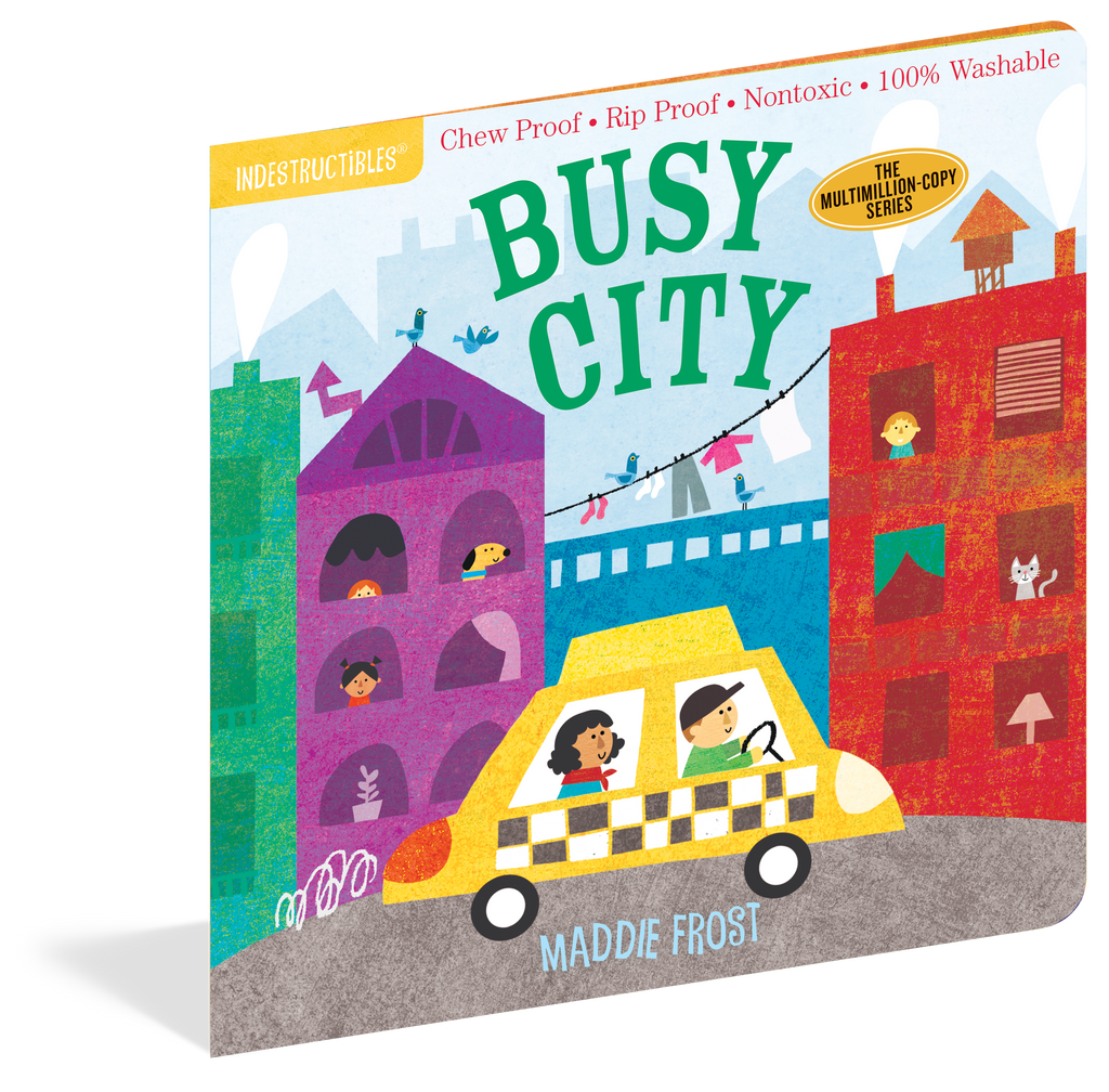 Indestructibles Baby Books : Busy City - The Milk Moustache