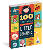 100 First Words for Little Geniuses Board Book - The Milk Moustache