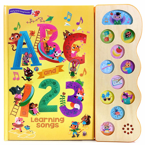 ABC and 123 Learning Songs Sound Book - The Milk Moustache