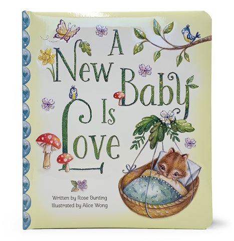 A New Baby is Love Board Book - The Milk Moustache