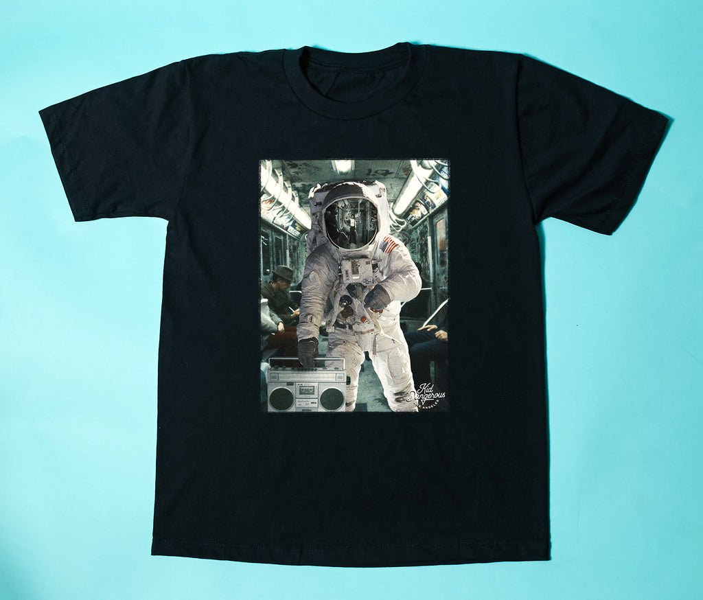 Kid Dangerous Youth Tee - Black Astro Subway - The Milk Moustache