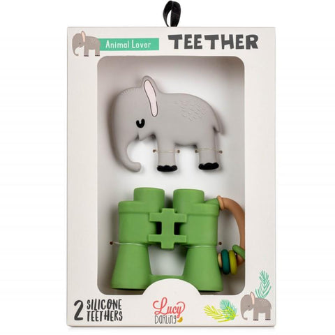 Animal Lover Teether Toy 2-Pack - The Milk Moustache