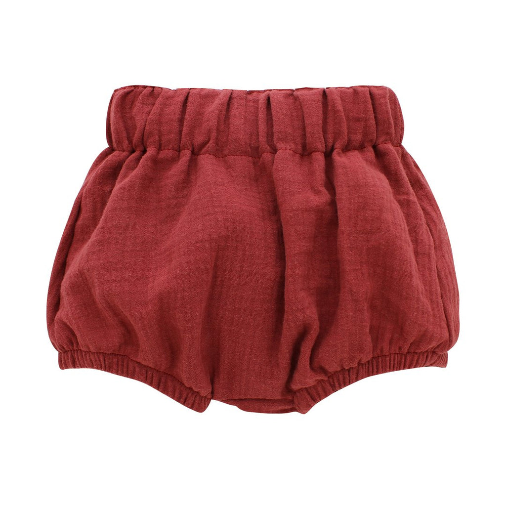 Brick Red Gauze Baby Bloomers - The Milk Moustache