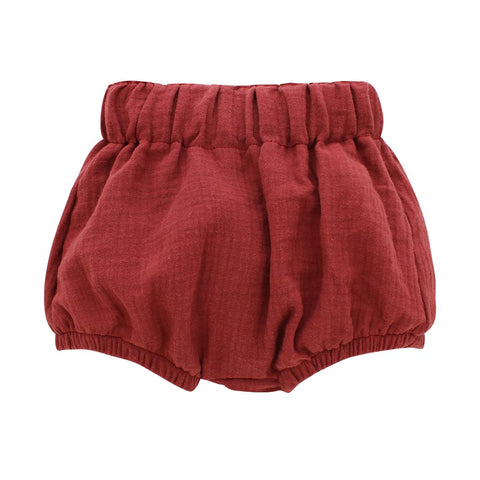Brick Red Gauze Baby Bloomers