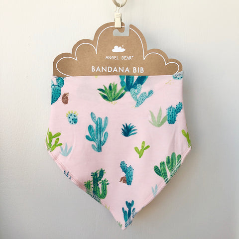 Angel Dear Bandana Bib - Cactus Pink - The Milk Moustache