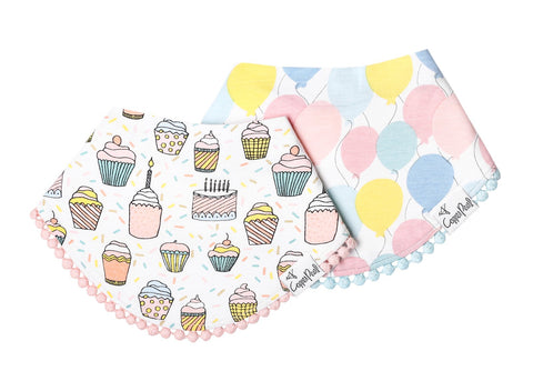 Copper Pearl Bandana Bib Set of 2 - Celebration - The Milk Moustache