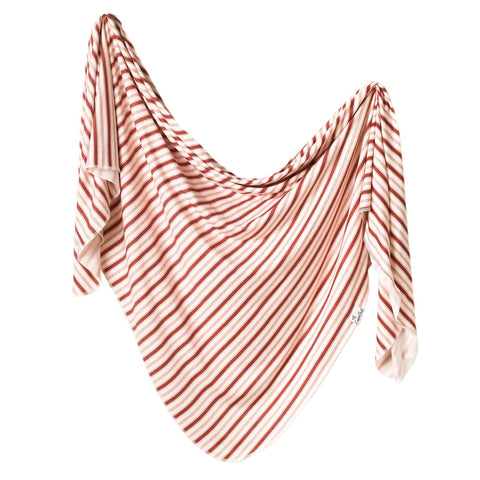 Copper Pearl Knit Swaddle Blanket - Cinnamon