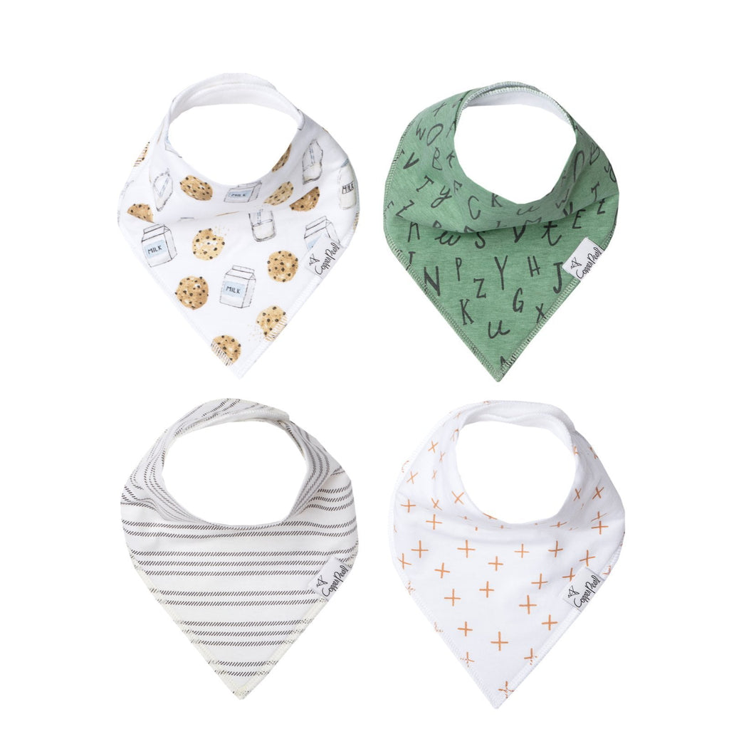 Copper Pearl Bandana Bib Set of 4 - Chip