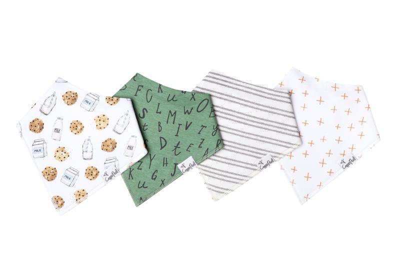 Copper Pearl Bandana Bib Set of 4 - Chip - The Milk Moustache