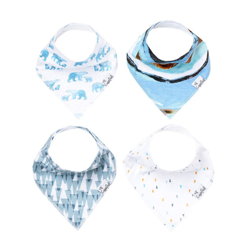 Copper Pearl Bandana Bib Set of 4 - Arctic