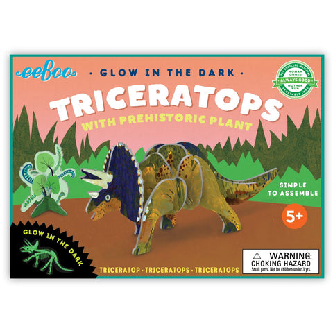 Triceratops 3D Dinosaur Kit - The Milk Moustache