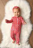 Gigi and Max Frost Red Gingham Ruffle Zip