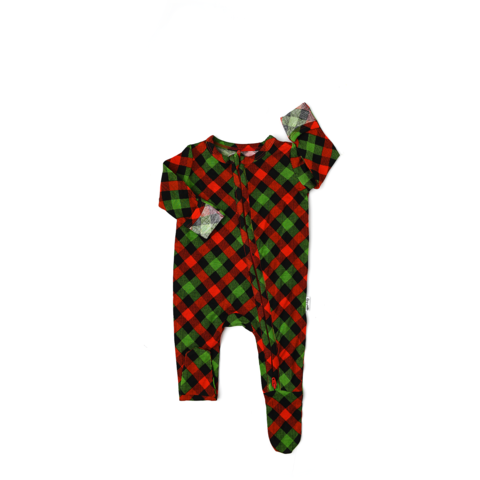 Gigi and Max Paxton Christmas Plaid Zip - The Milk Moustache