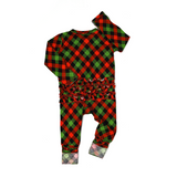 Gigi and Max Paxton Christmas Plaid Ruffle Zip - The Milk Moustache