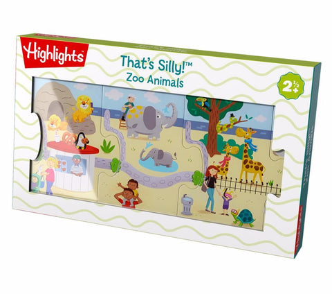 Haba That's Silly! Connecting Puzzle - Zoo Animals - The Milk Moustache