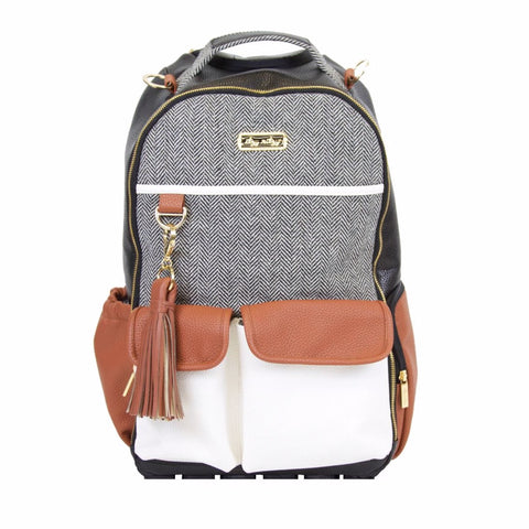 Itzy Ritzy Coffee & Cream Boss Backpack Diaper Bag - The Milk Moustache