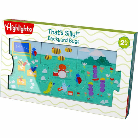 Haba That's Silly! Connecting Puzzle - Backyard Bugs - The Milk Moustache