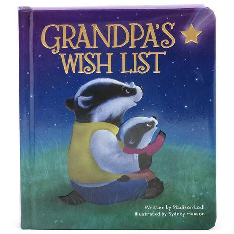 Grandpa's Wish List Board Book - The Milk Moustache