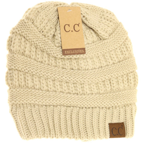 CC Beanie Classic Knit Hat - More Colors! - The Milk Moustache