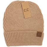 CC Beanie Chevron Knit Cuff Hat - More Colors! - The Milk Moustache