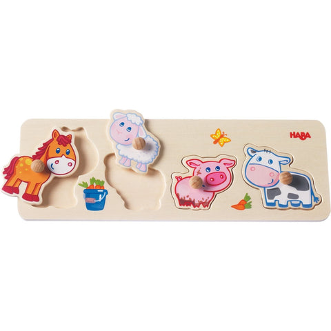 Haba Baby Farm Animals Clutching Puzzle - The Milk Moustache