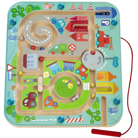 Haba Magnetic Game Town Maze - The Milk Moustache