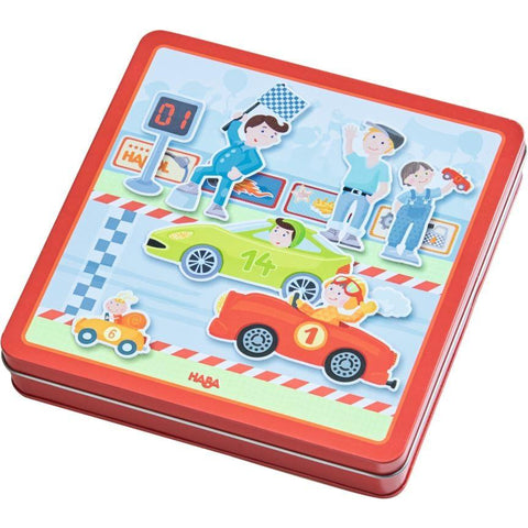 Haba Magnetic Zippy Cars Game - The Milk Moustache