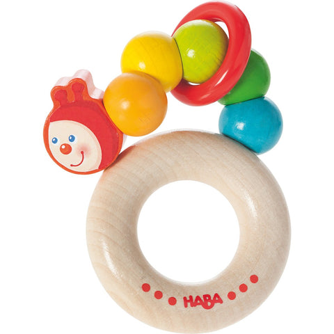 Haba Rainbow Caterpillar Clutching Toy - The Milk Moustache