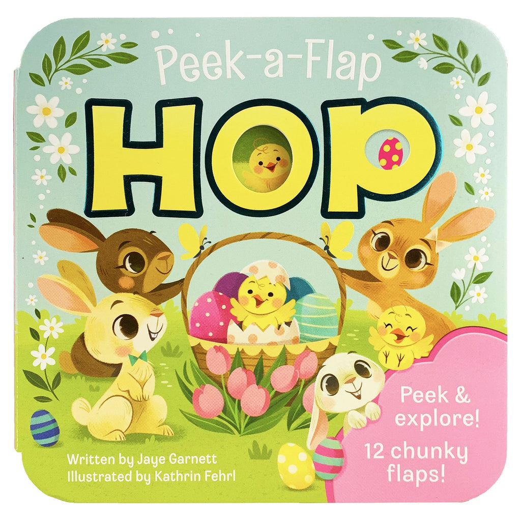 Peek-A-Flap Hop Board Book - The Milk Moustache