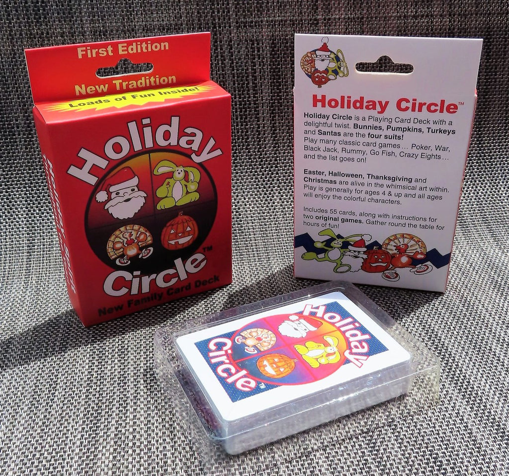 Holiday Circle Playing Card Deck - The Milk Moustache