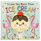 I Like You More Than Ice Cream Plush Finger Puppet Book - The Milk Moustache