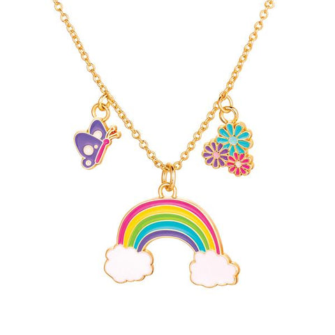 Cloud Luvs Rainbow Charming Whimsy Necklace - The Milk Moustache