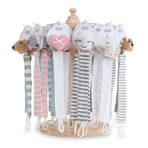 Assorted Pacifier Clips - The Milk Moustache