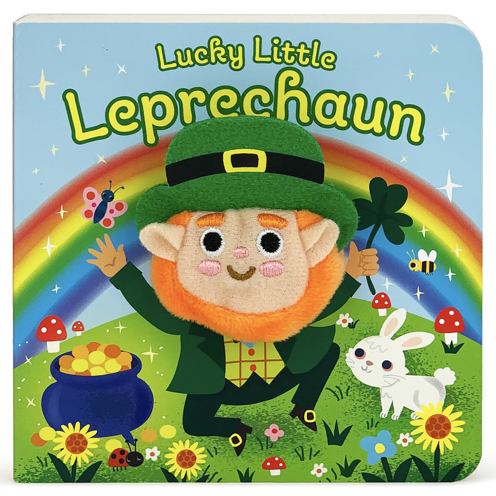 Lucky Little Leprechaun Plush Finger Puppet Book - The Milk Moustache
