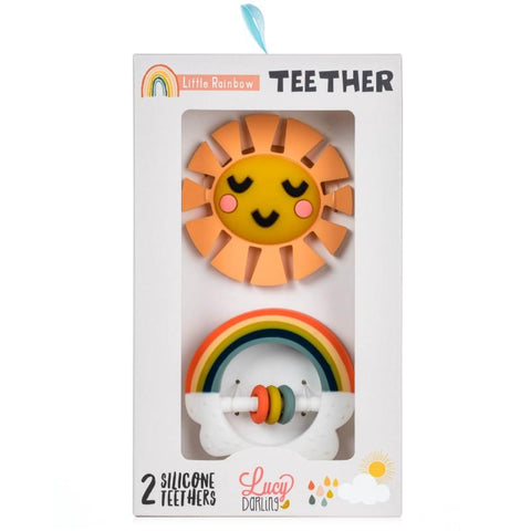 Little Rainbow Teether Toy 2-Pack - The Milk Moustache