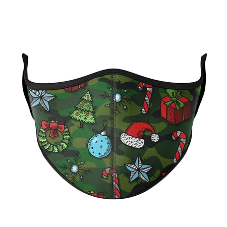 Top Trends Camo Christmas Face Masks - Child (3-7)