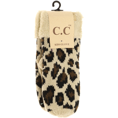 Kids Leopard Print Mittens from CC Beanie - The Milk Moustache